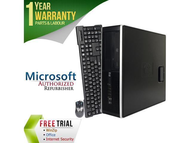 HP Desktop Computer Elite 8000 Core 2 Quad Q6600 (2.40 GHz) 8 GB DDR3 320 GB HDD Intel GMA 4500 Windows 7 Professional 64-Bit