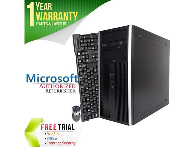 HP Desktop Computer Elite 8000 Core 2 Quad Q6600 (2.40 GHz) 4 GB DDR3 250 GB HDD Intel GMA 4500 Windows 7 Professional 64-Bit