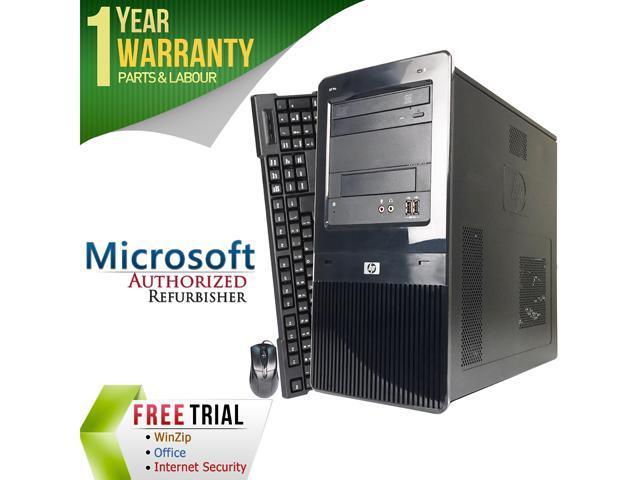 HP Desktop Computer ELITE 8100 Intel Core i5 1st Gen 650 (3.20 GHz) 4 GB DDR3 500 GB HDD Windows 7 Professional 64-Bit