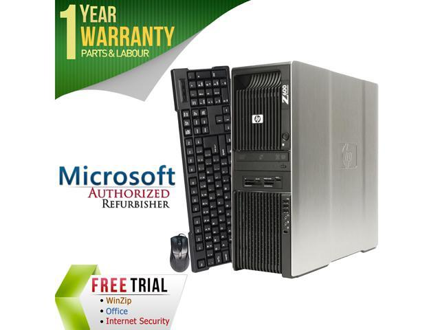 HP Desktop Computer Z600 Intel Xeon E5504 (2.00 GHz) 4 GB DDR3 160 GB HDD ATI Radeon HD 3450 Windows 7 Professional 64-Bit