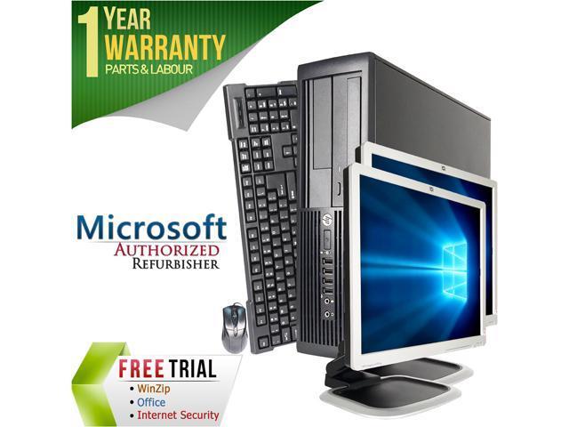 HP Desktop Computer Pro 4300 + Dual 19