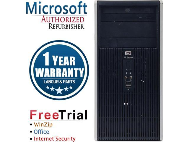 HP Desktop Computer DC5800-Tower Core 2 Duo E8400 (3.00 GHz) 4 GB DDR2 160 GB HDD Intel GMA 3100 Windows 10 Pro
