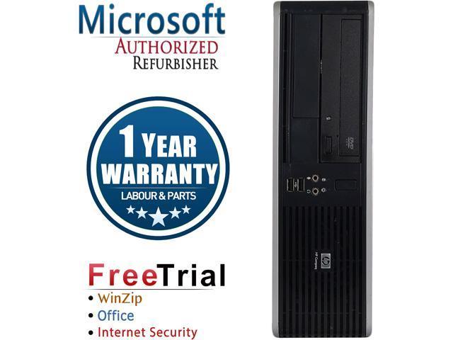 HP Desktop Computer DC7800-SFF Core 2 Duo E6550 (2.33 GHz) 4 GB DDR2 160 GB HDD Intel GMA 3100 Windows 10 Pro