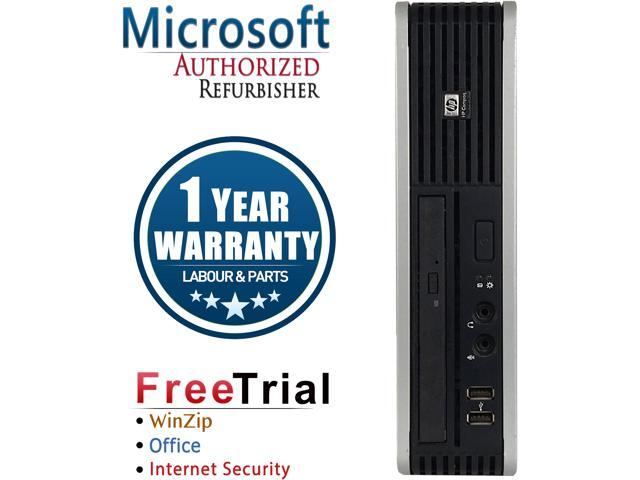 HP Desktop Computer DC7800-USFF Core 2 Duo E6550 (2.33 GHz) 2 GB DDR2 80 GB HDD Intel GMA 3100 Windows 10 Pro