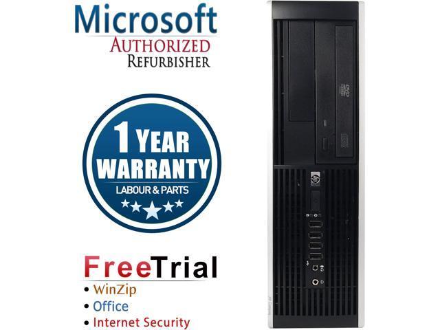 HP Desktop Computer Elite 8000-SFF Core 2 Quad Q8200 (2.33 GHz) 8 GB DDR3 1 TB HDD Intel GMA 4500 Windows 10 Pro