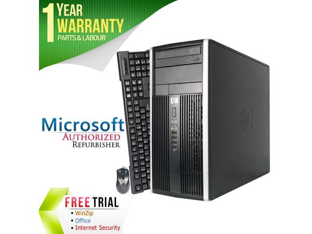 HP Desktop Computer 6200 Pro-Tower Intel Core i3 2100 (3.10 GHz) 4 GB DDR3 250 GB HDD Intel HD Graphics 2000 Windows 10 Pro