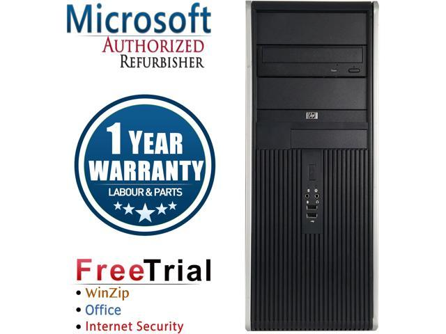 HP Desktop Computer DC7900-Tower Core 2 Duo E8400 (3.00 GHz) 4 GB DDR2 320 GB HDD Intel GMA 4500 Windows 10 Pro