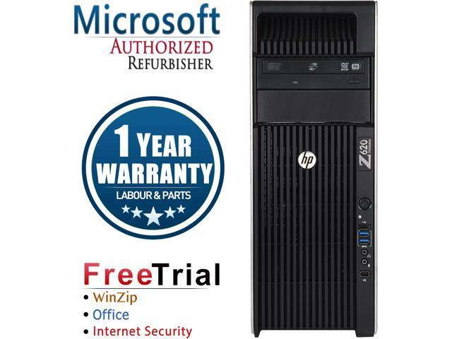 HP Desktop Computer Z620 WS-Tower Xeon E5-2609 (2.4 GHz) 8 GB DDR3 1 TB HDD NVIDIA NVS 310 Windows 10 Pro