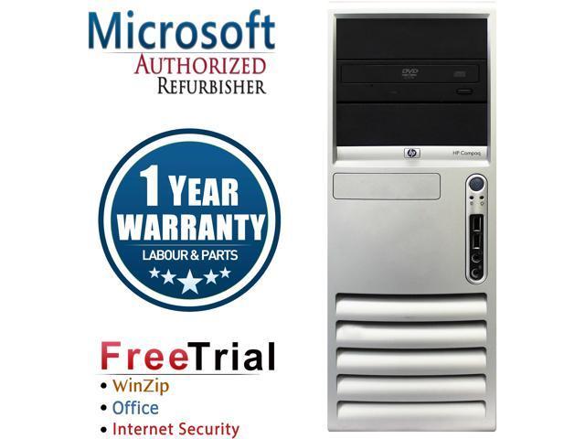 HP Desktop Computer DC7700-Tower Core 2 Duo E6300 (1.86 GHz) 4 GB DDR2 500 GB HDD Intel GMA 3000 Windows 10 Pro