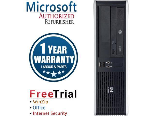 HP Desktop Computer DC7900-SFF Core 2 Duo E7600 (3.06 GHz) 4 GB DDR2 160 GB HDD Intel GMA 4500 Windows 10 Pro