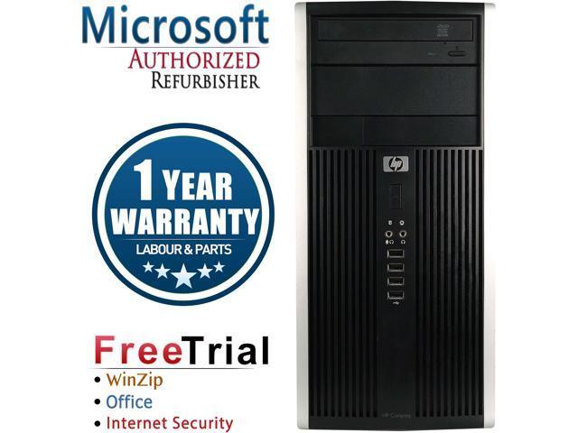 HP Desktop Computer 6000 Pro-Tower Core 2 Quad Q8200 (2.33 GHz) 4 GB DDR3 250 GB HDD Intel GMA 4500 Windows 10 Pro