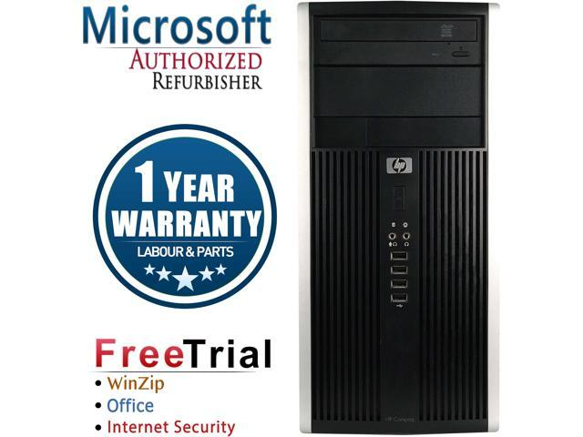 HP Desktop Computer 6000 Pro-Tower Core 2 Quad Q8200 (2.33 GHz) 4 GB DDR3 1 TB HDD Intel GMA 4500 Windows 10 Pro