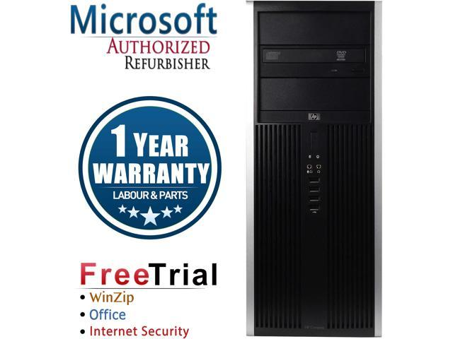HP Desktop Computer Elite 8000-Tower Core 2 Quad Q8200 (2.33 GHz) 4 GB DDR3 250 GB HDD Intel GMA 4500 Windows 10 Pro