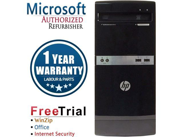 Refurbished HP Compaq 500B Tower Intel Pentium E5300 2.6G / 4G DDR3 / 250G / DVD / Windows 7 Professional 64 Bit / 1 Year Warranty