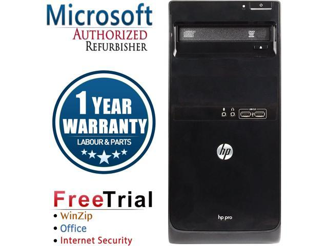 Refurbished HP 3400 Tower Intel Core I3 2100 3.1G / 8G DDR3 / 1TB / DVD / Windows 7 Professional 64 Bit  / 1 Year Warranty