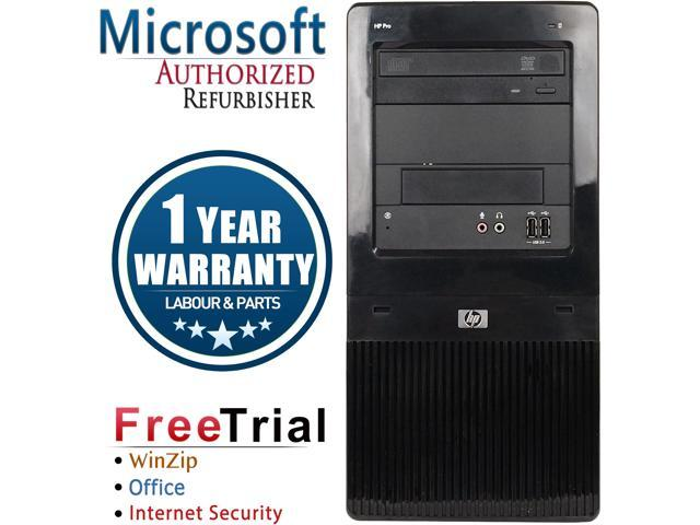 Refurbished HP Pro 3130 Tower Intel Pentium Dual Core G6950 2.8G / 4G DDR3 / 2TB / DVD / Windows 7 Professional 64 Bit  / 1 Year Warranty
