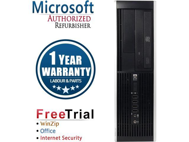Refurbished HP Compaq 8200 Elite SFF Intel Core i3-2100 3.1G / 8G DDR3 / 2TB / DVD / Windows 7 Professional 64 Bit / 1 Year Warranty