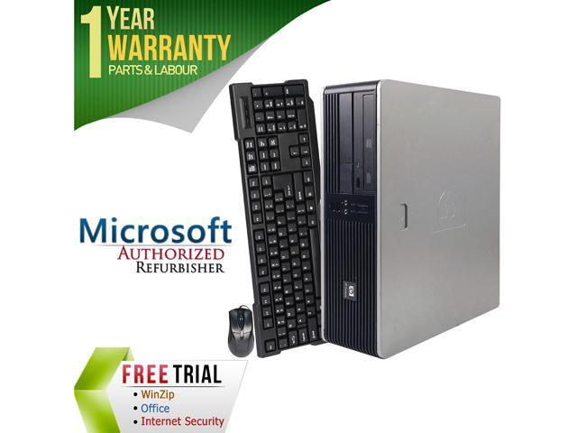 Refurbished HP Compaq DC5750 SFF AMD Athlon 64 3500+ 2.2G / 4G DDR2 / 250G / DVD / Windows 7 Professional 64 Bit / 1 Year Warranty