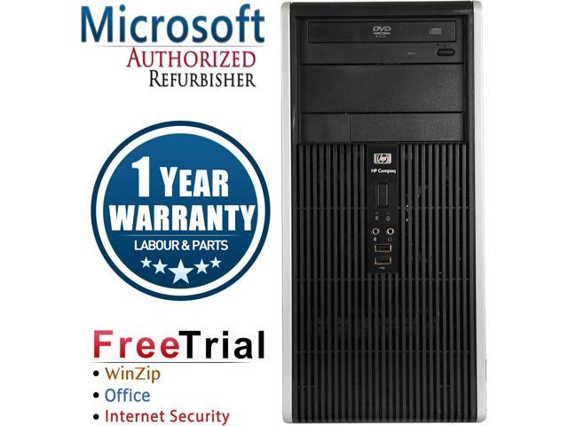 Refurbished HP Compaq DC5750 Tower AMD Athlon 64 3500+ 2.2G / 4G DDR2 / 250G / DVD / Windows 7 Professional 64 Bit / 1 Year Warranty