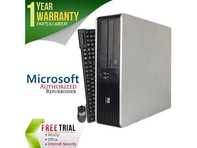 HP Compaq Refurbished Desktop Computer DC7800 Core 2 Duo E8400 (3.00 GHz) 4 GB DDR2 250 GB HDD Intel GMA 3100 Windows 7 Professional 64-Bit