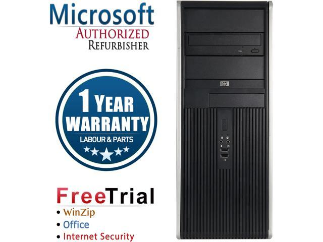 Refurbished HP DC7800 Tower / Core 2 Duo E8400 3.0G / 4G DDR2 / 1TB / DVD / Windows 7 Professional 64 Bit / 1 Year Warranty