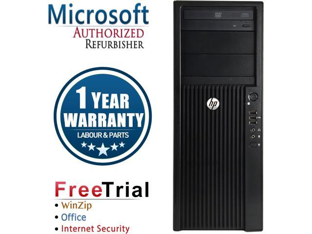 Refurbished HP Z210 Tower Intel XEON E3-1240 3.3G / 4G DDR3 / 1TB / DVD-ROM / NVS 295 / Windows 7 Professional 64 Bit  / 1 Year Warranty