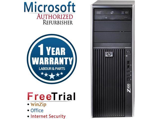 Refurbished HP Z400 Tower Intel XEON W3550 3.06G / 4G DDR3 / 1TB / DVD-ROM / AMD HD3450 + Y Cable / Windows 7 Professional 64 Bit  / 1 Year Warranty