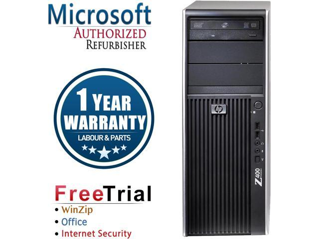 Refurbished HP Z400 Tower Intel XEON W3550 3.06G / 8G DDR3 / 320G / DVD-ROM / AMD HD3450 + Y Cable / Windows 7 Professional 64 Bit  / 1 Year Warranty