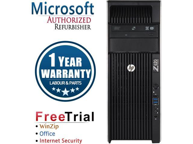 Refurbished HP Z620 Tower Intel XEON Intel XEON E5-2609 X2 2.4G / 16G DDR3 / 1TB / DVD±RW / NVS 310 / Windows 7 Professional 64 Bit  / 1 Year Warranty