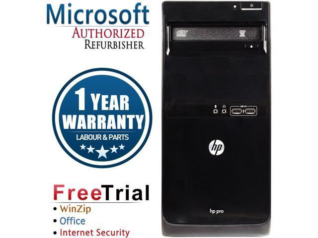 HP Desktop Computer Pro 3400 Intel Core i3 2nd Gen 2100 (3.10 GHz) 8 GB DDR3 1 TB HDD Intel HD Graphics 2000 Windows 7 Professional