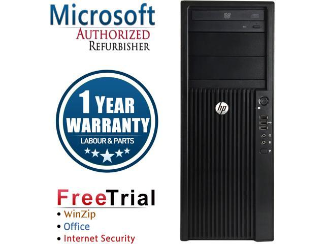 HP Desktop Computer Z210 Xeon E3-1240 (3.30 GHz) 4 GB DDR3 1 TB HDD NVIDIA NVS 295 Windows 10 Pro