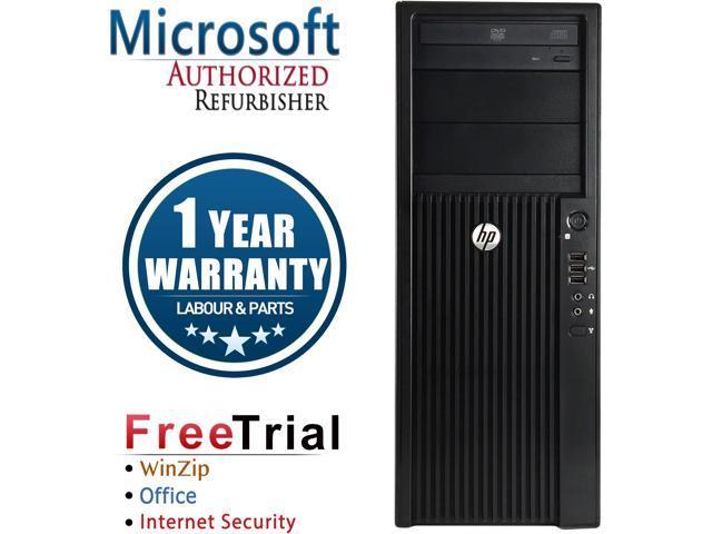HP Desktop Computer Z210 Xeon E3-1240 (3.30 GHz) 8 GB DDR3 320 GB HDD NVIDIA NVS 300 Windows 10 Pro