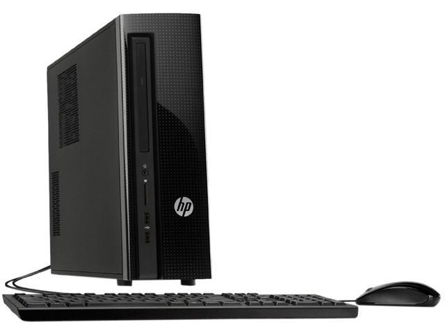 HP Desktop Computer 450-A120 AMD E-Series E1-6015 (1.40 GHz) 4 GB DDR3 500 GB HDD AMD Radeon R2 Windows 10 Home