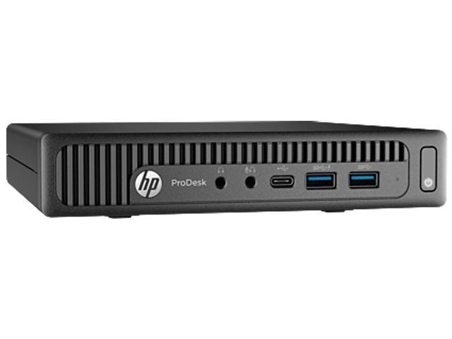 HP Desktop Computer ProDesk 600 G2 (W5X47UT#ABA) Intel Core i5 6th Gen 6500T (2.50 GHz) 8 GB DDR4 256 GB SSD Intel HD Graphics 530 Windows 10 Pro 64-Bit