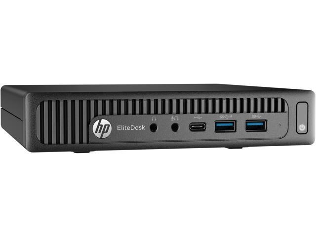 HP Desktop Computer EliteDesk 800 G2 (W5X48UT#ABA) Intel Core i5 6th Gen 6500T (2.50 GHz) 8 GB DDR4 256 GB SSD Intel HD Graphics 530 Windows 10 Pro 64-Bit