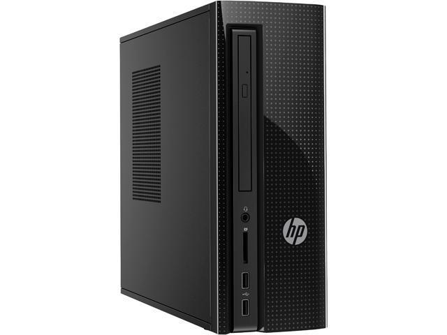 HP Bilingual Desktop Computer Slimline 260-a039 Pentium J3710 (1.6 GHz) 4 GB DDR3L 1 TB HDD Intel HD Graphics Windows 10 Home 64-Bit