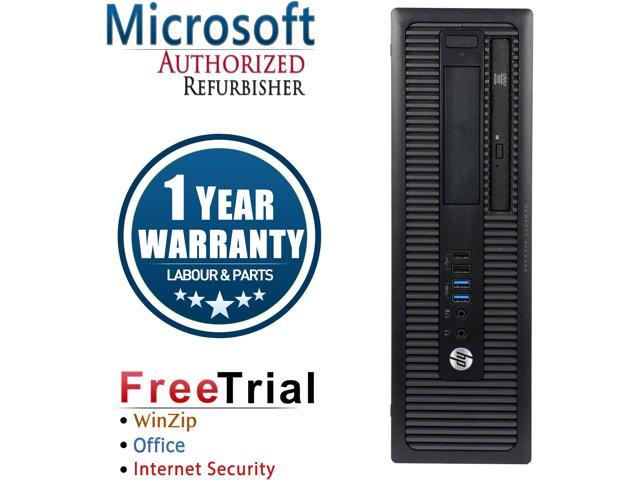 Refurbished HP ProDesk 400G1 SFF Intel Pentium G3420 3.2G / 4G DDR3 / 320G / DVD / Windows 10 Professional 64 Bits / 1 Year Warranty