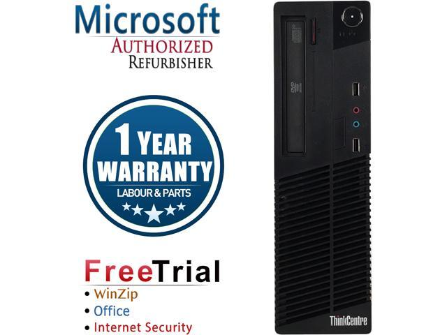 Refurbished Lenovo ThinkCentre M81 SFF Intel Core i5 2400 3.1G / 8G DDR3 / 120G SSD / DVD / Windows 10 Professional 64 Bit / 1 Year Warranty