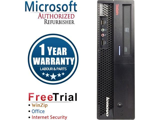 Lenovo Desktop Computer ThinkCentre M58P-SFF Core 2 Duo E8400 (3.00 GHz) 4 GB DDR3 160 GB HDD Intel GMA 4500 Windows 10 Pro