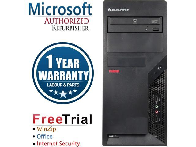 Lenovo Desktop Computer ThinkCentre M58P-TW Core 2 Duo E8400 (3.00 GHz) 4 GB DDR3 320 GB HDD Intel GMA 4500 Windows 10 Pro