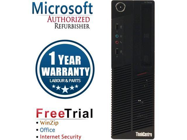 Lenovo Desktop Computer ThinkCentre M92P-SFF Intel Core i3 3rd Gen 3220 (3.30 GHz) 4 GB DDR3 250 GB HDD Intel HD Graphics 2500 Windows 10 Pro