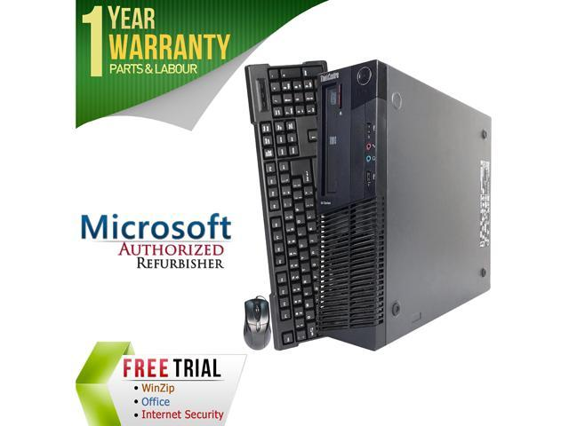 Lenovo Desktop Computer ThinkCentre M91P-SFF Intel Core i3 2nd Gen 2100 (3.10 GHz) 4 GB DDR3 250 GB HDD Intel HD Graphics 2000 Windows 10 Pro