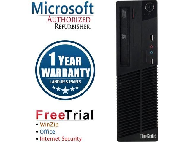 Lenovo Desktop Computer ThinkCentre M71E-SFF Intel Core i3 2nd Gen 2100 (3.10 GHz) 8 GB DDR3 1 TB HDD Intel HD Graphics 2000 Windows 10 Pro