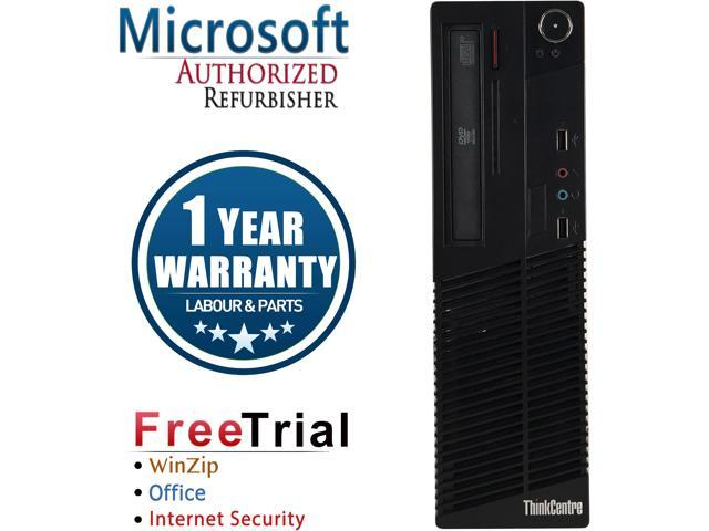 Lenovo Desktop Computer ThinkCentre M73-SFF Intel Core i3 4th Gen 4130 (3.40 GHz) 4 GB DDR3 250 GB HDD Intel HD Graphics 4400 Windows 10 Pro
