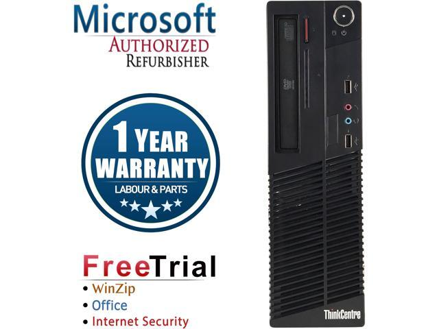 Lenovo Desktop Computer ThinkCentre M73 Intel Core i5 4th Gen 4430 (3.00 GHz) 4 GB DDR3 250 GB HDD Intel HD Graphics 4600 Windows 10 Pro