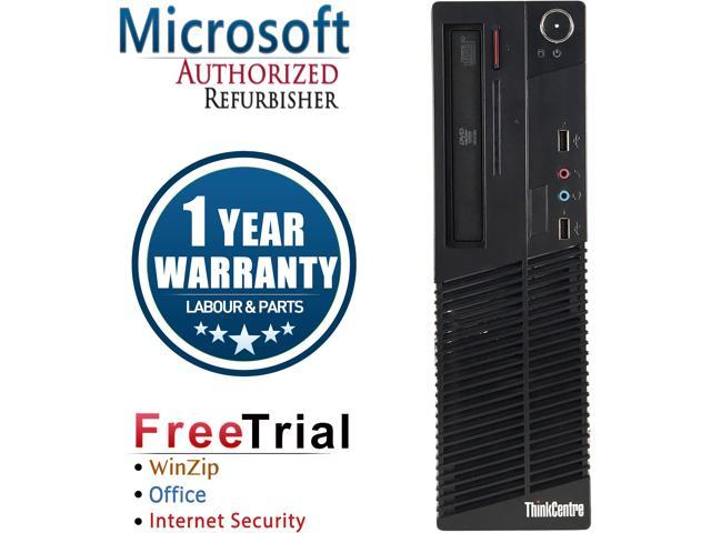 Lenovo Desktop Computer ThinkCentre M73 Intel Core i5 4th Gen 4430 (3.00 GHz) 8 GB DDR3 1 TB HDD Intel HD Graphics 4600 Windows 10 Pro
