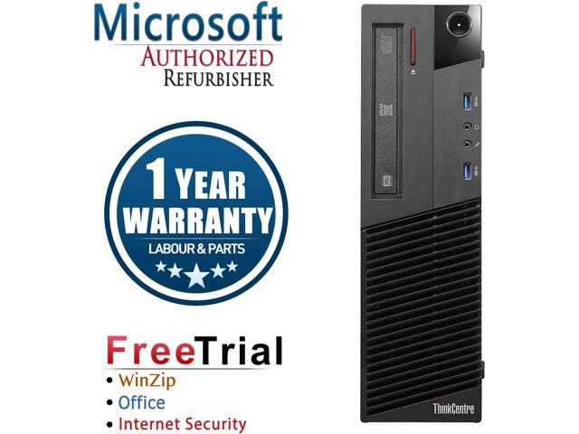 Lenovo Desktop Computer ThinkCentre M83 Intel Core i5 4th Gen 4570 (3.20 GHz) 4 GB DDR3 1 TB HDD Intel HD Graphics 4600 Windows 10 Pro