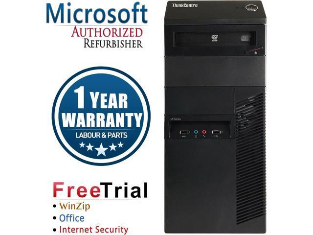 Refurbished Lenovo ThinkCentre M91P Desktop Tower Intel Core i5 2400 3.1G / 16G DDR3 / 2TB / DVD / Windows 7 Professional 64 Bit / 1 Year Warranty