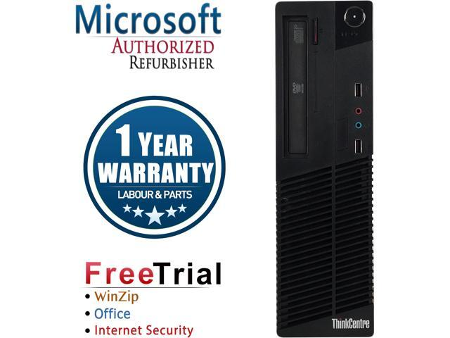 Lenovo Desktop Computer ThinkCentre M92P Intel Core i3 3rd Gen 3220 (3.30 GHz) 8 GB DDR3 320 GB HDD Intel HD Graphics 2500 Windows 10 Pro