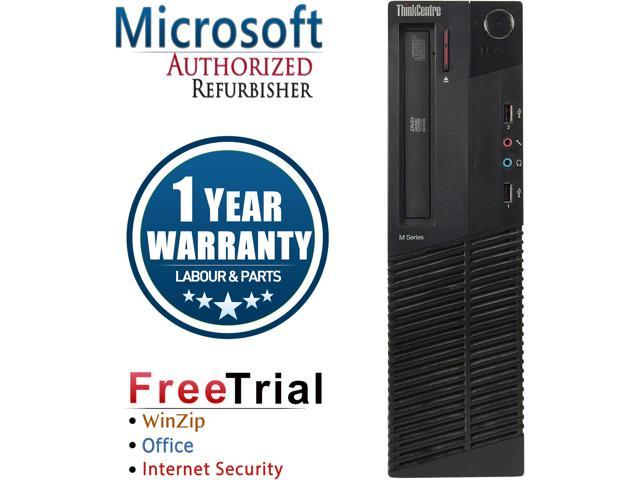 Lenovo Desktop Computer ThinkCentre M91P-SFF Intel Core i5 2nd Gen 2400 (3.10 GHz) 8 GB DDR3 1 TB HDD Intel HD Graphics 2000 Windows 10 Pro